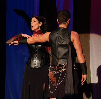 Patti Gardner and Conor Walton in Pippin.